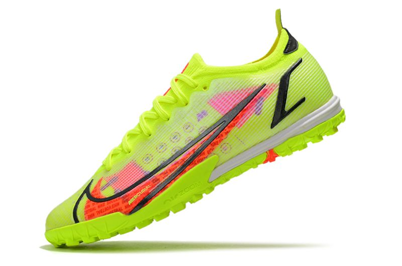 Nike Vapor 14 Elite TF yellow black red football shoes Left
