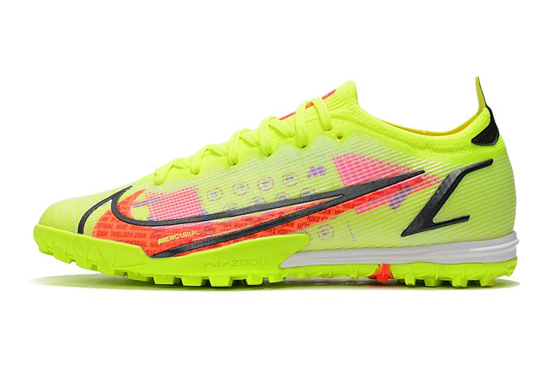 Nike Vapor 14 Elite TF yellow black red football shoes Outside