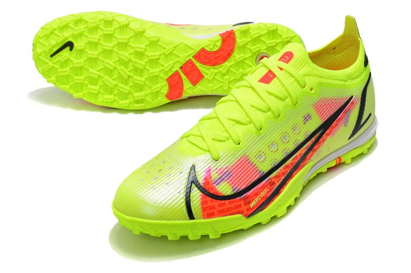 Nike Vapor 14 Elite TF yellow black red football shoes vamp