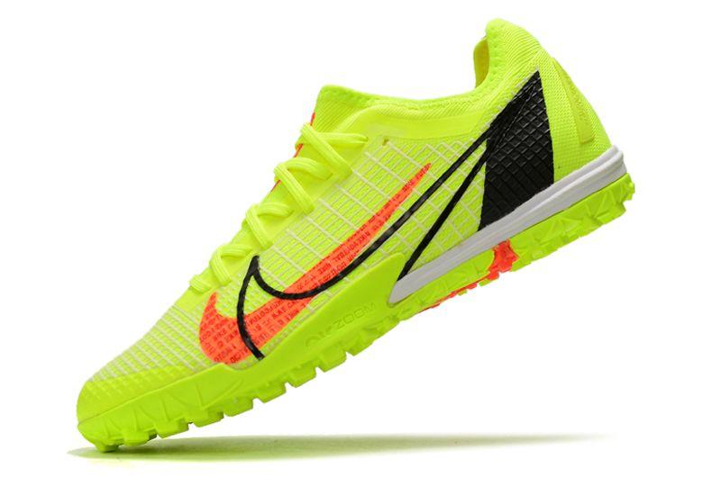 Nike Zoom Vapor 14 Pro TF Yellow Studded Football Boots Left