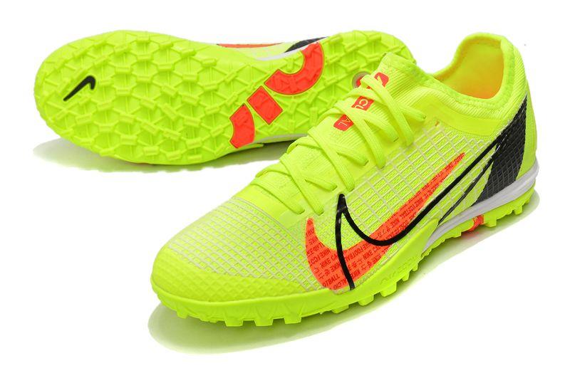 Nike Zoom Vapor 14 Pro TF Yellow Studded Football Boots vamp