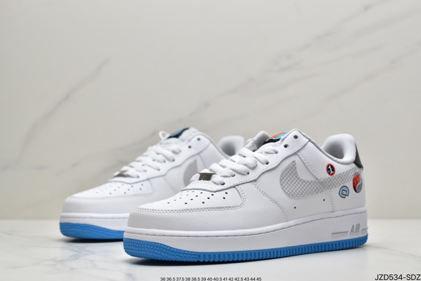 """2021 Nike Air Force 1 Low """"Yin Yang"""" White Multicolor Wolf Gray DM8088-100 Left"""