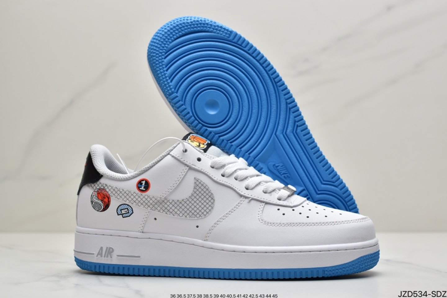 """2021 Nike Air Force 1 Low """"Yin Yang"""" White Multicolor Wolf Gray DM8088-100 Shop"""