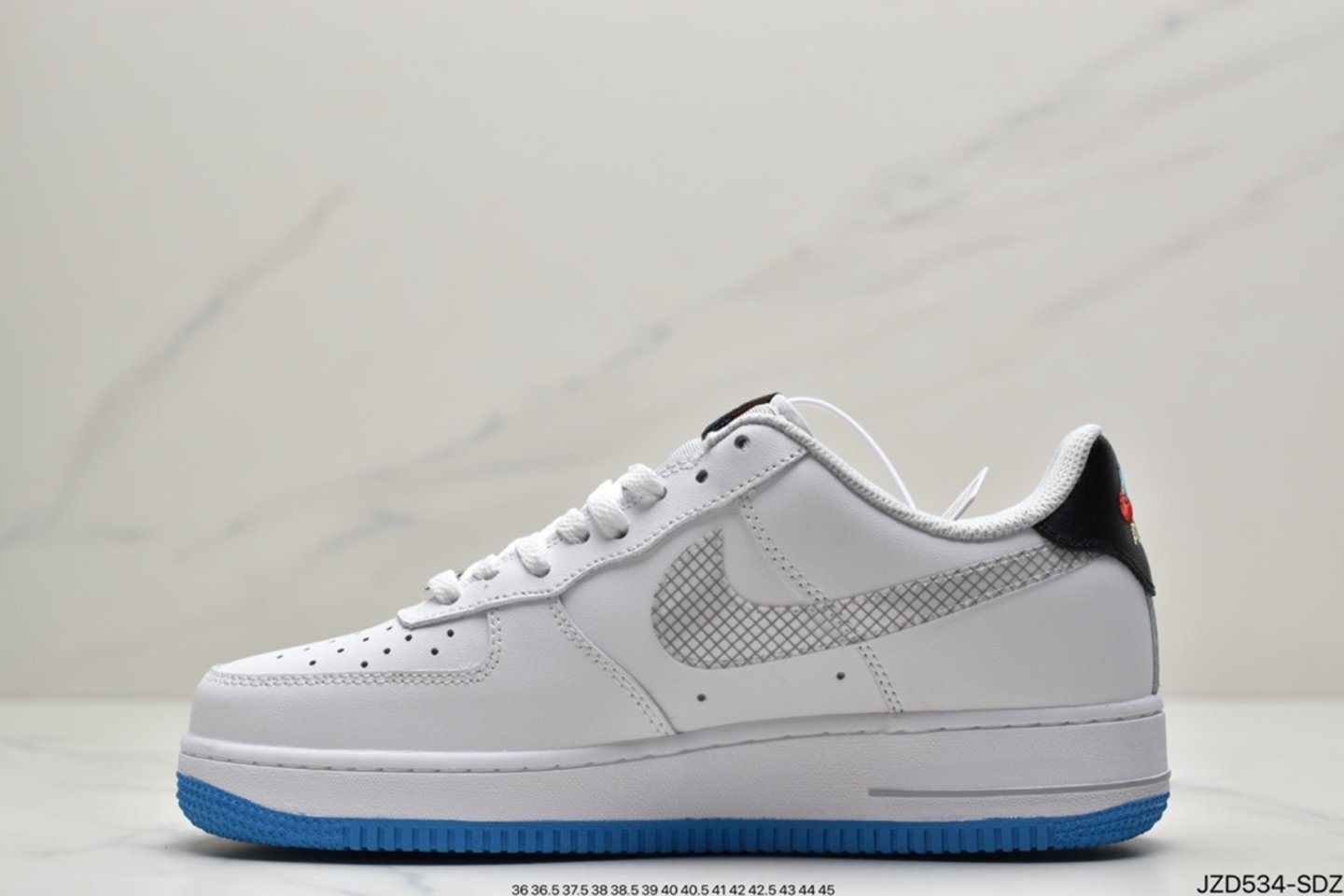 """2021 Nike Air Force 1 Low """"Yin Yang"""" White Multicolor Wolf Gray DM8088-100 side"""