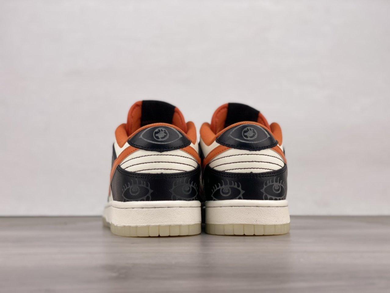 2021 Nike Dunk Low PRM Halloween Skateboard Shoes DD3357-100 Back heel