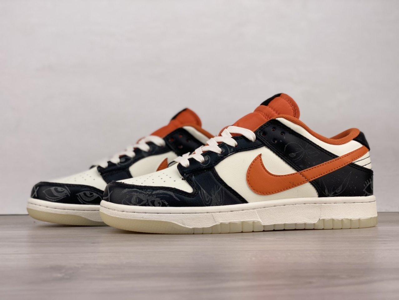 2021 Nike Dunk Low PRM Halloween Skateboard Shoes DD3357-100 Outside