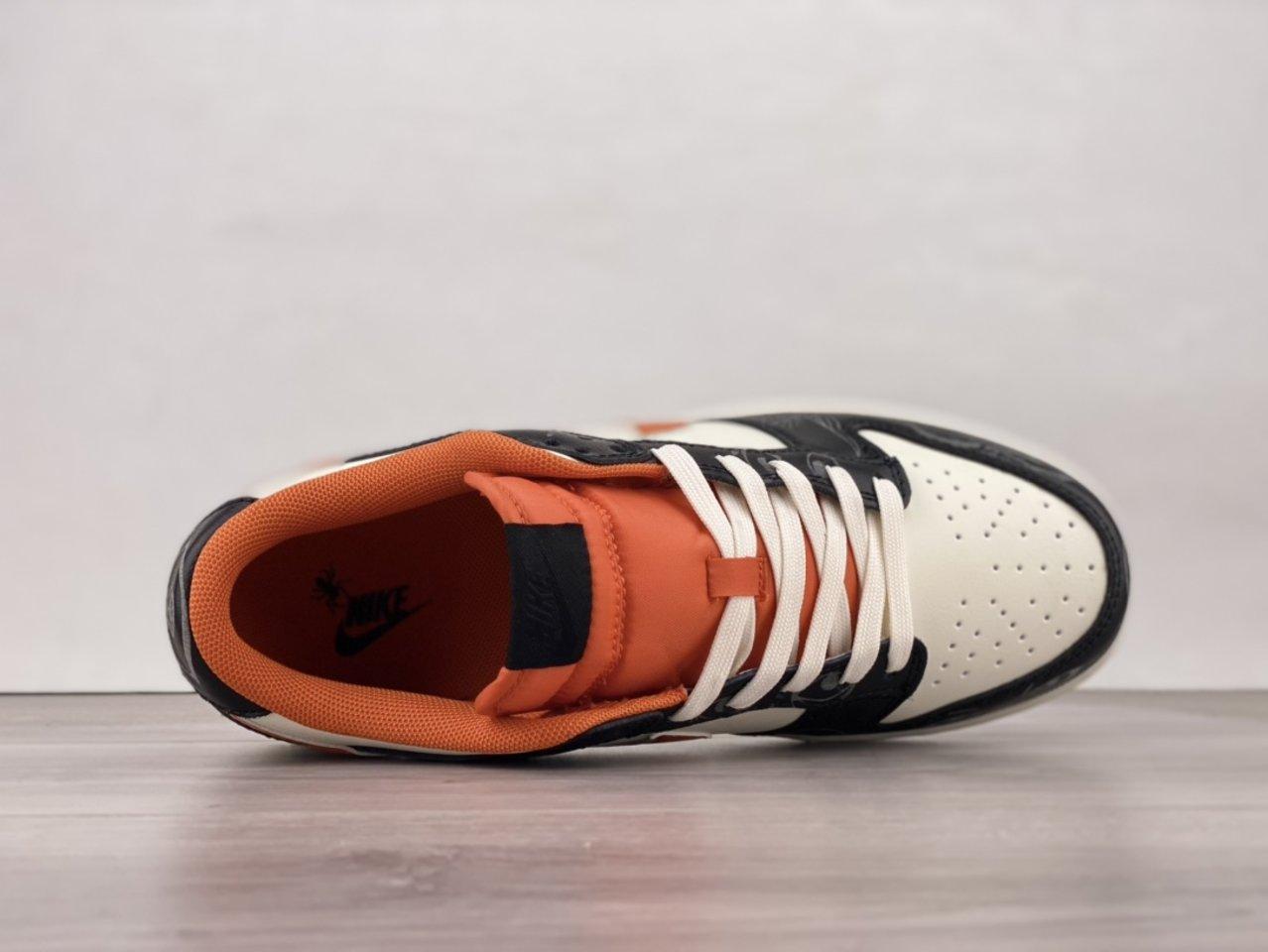 2021 Nike Dunk Low PRM Halloween Skateboard Shoes DD3357-100 shoelace