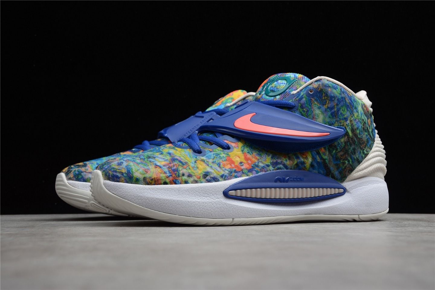 2021 Nike KD 14 EP Psychedelic Fashion Running Shoes CZ0170-400 Left