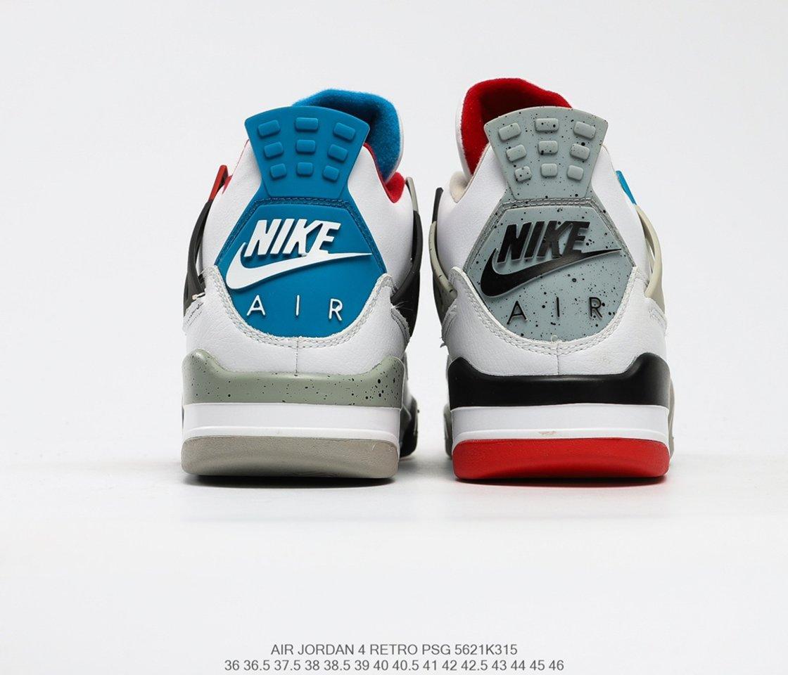 Hot Sale Air Jordan 4 Retro SE What The 4 Basketball Shoes CI1184-146 Back heel