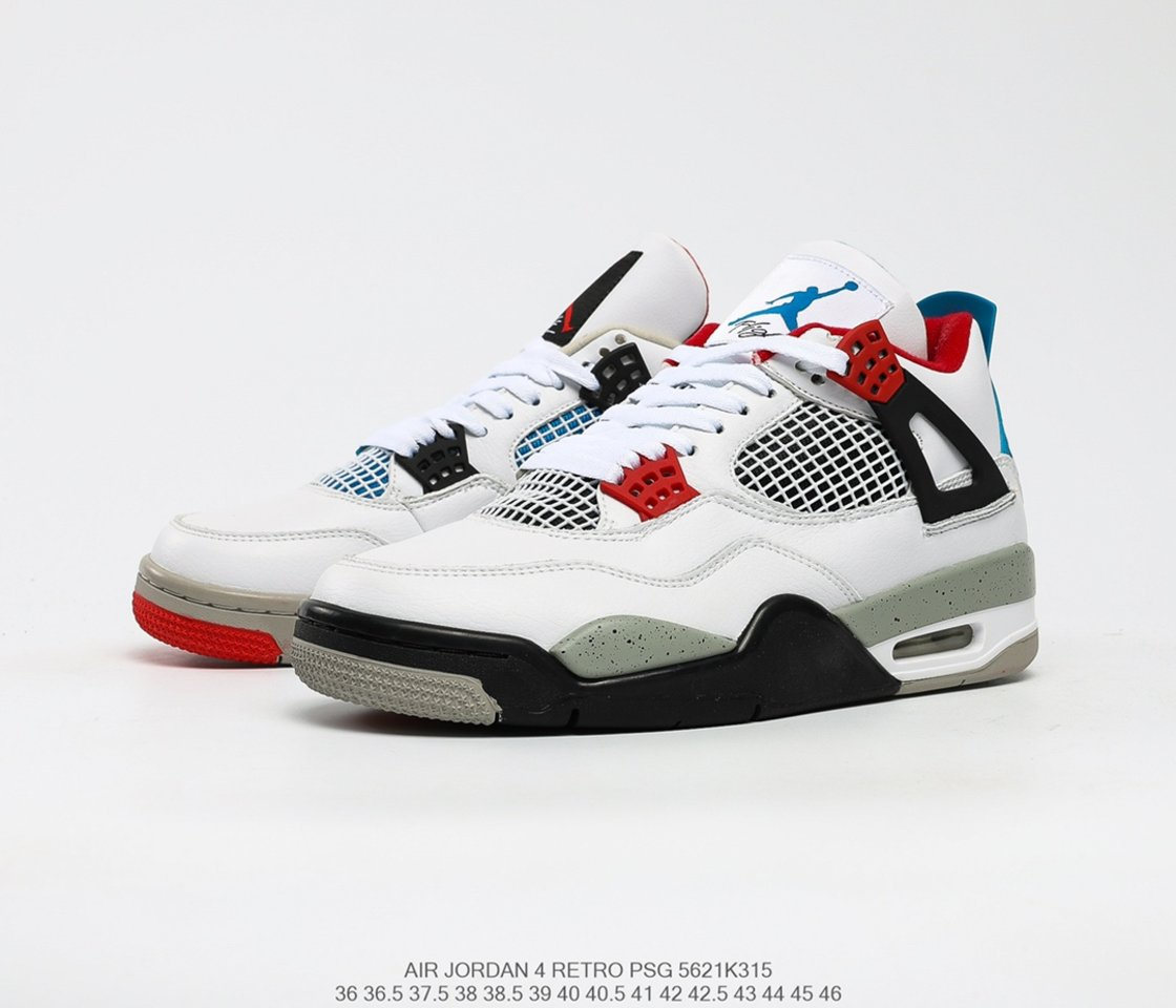 Hot Sale Air Jordan 4 Retro SE What The 4 Basketball Shoes CI1184-146 overall
