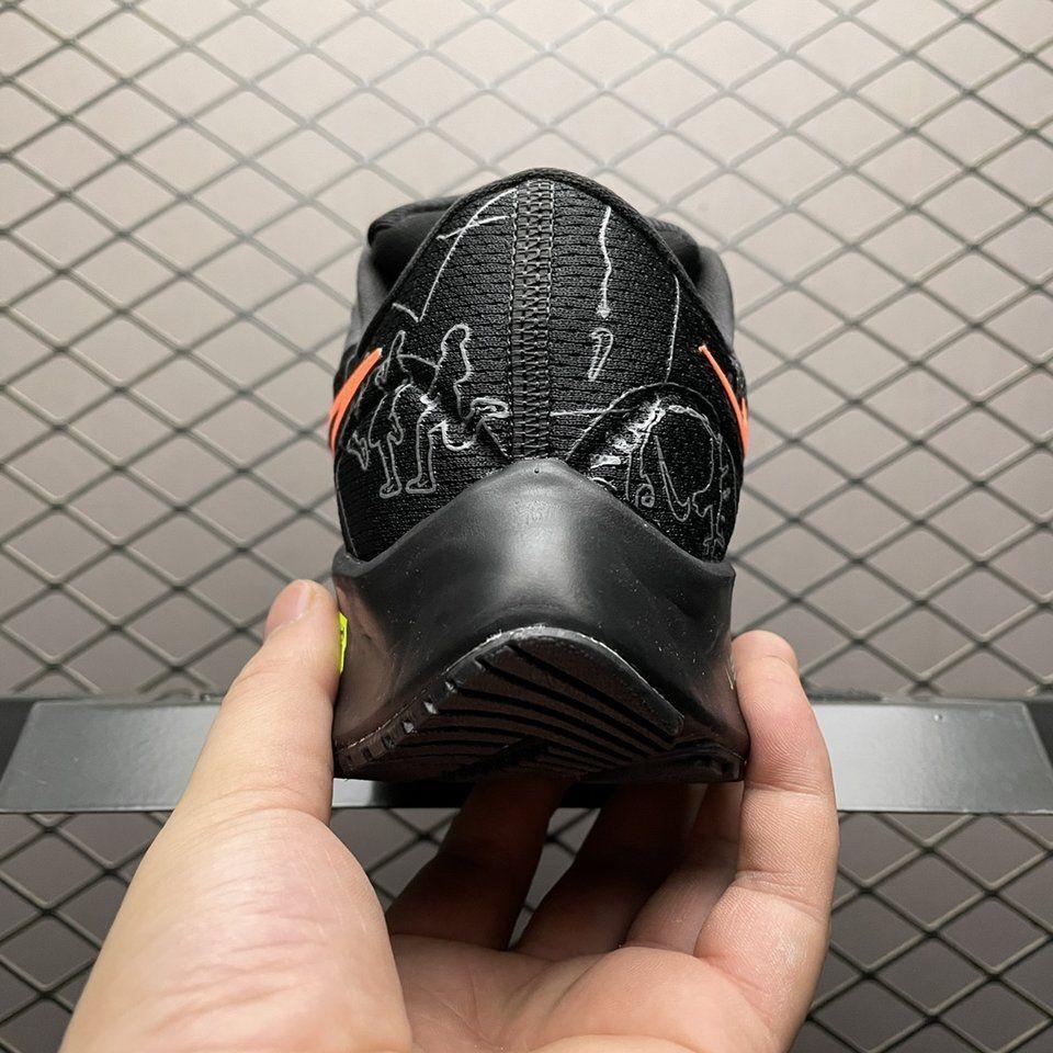 Newness Nike Air Zoom Pegasus 38 Black Orange-Volt Sale Online DN9256-001 Behind