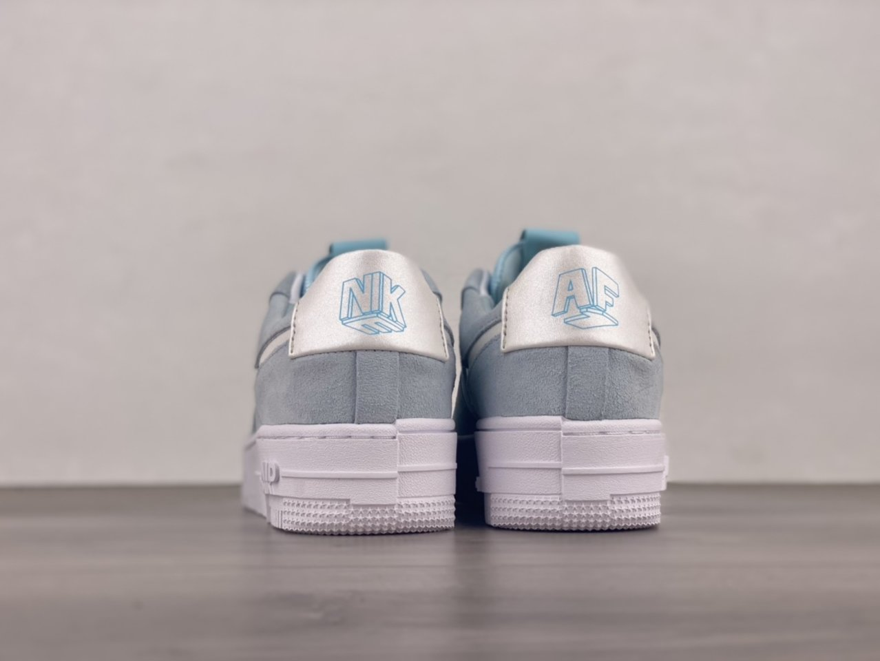 Nike Air Force 1 Pixel Glacier Blue Casual Shoes DH3855-400 Behind