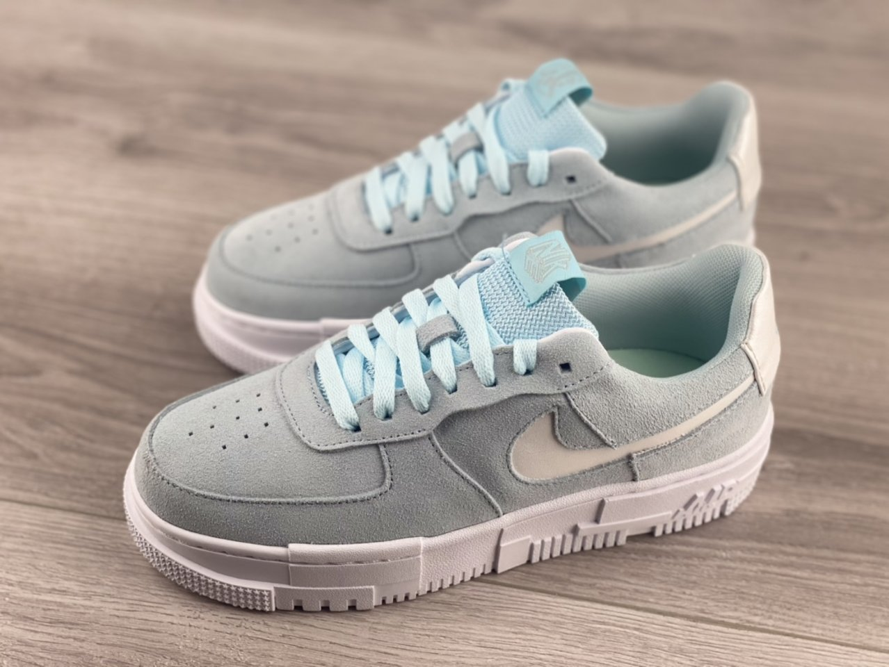 Nike Air Force 1 Pixel Glacier Blue Casual Shoes DH3855-400 overall