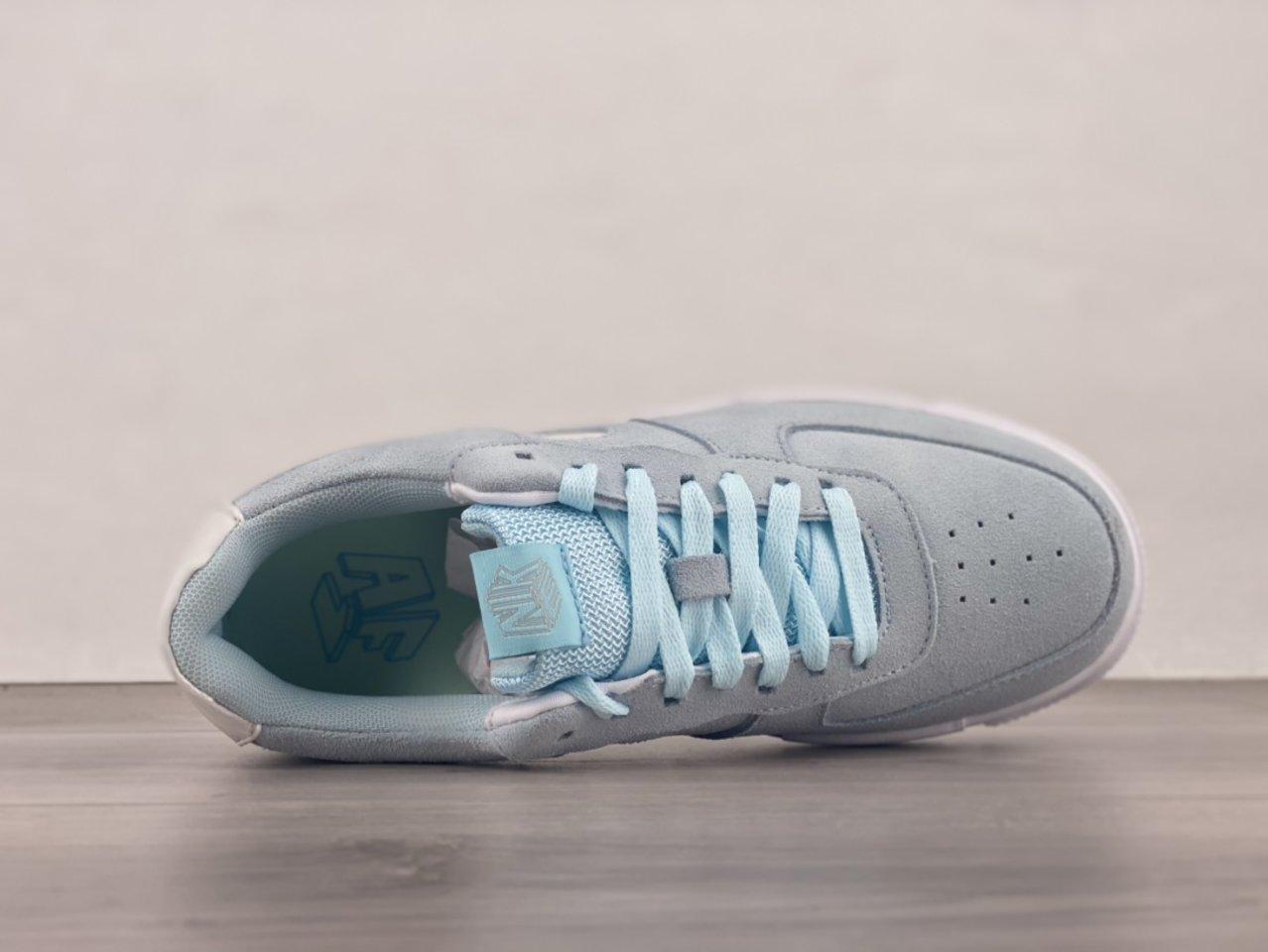 Nike Air Force 1 Pixel Glacier Blue Casual Shoes DH3855-400 shoelace