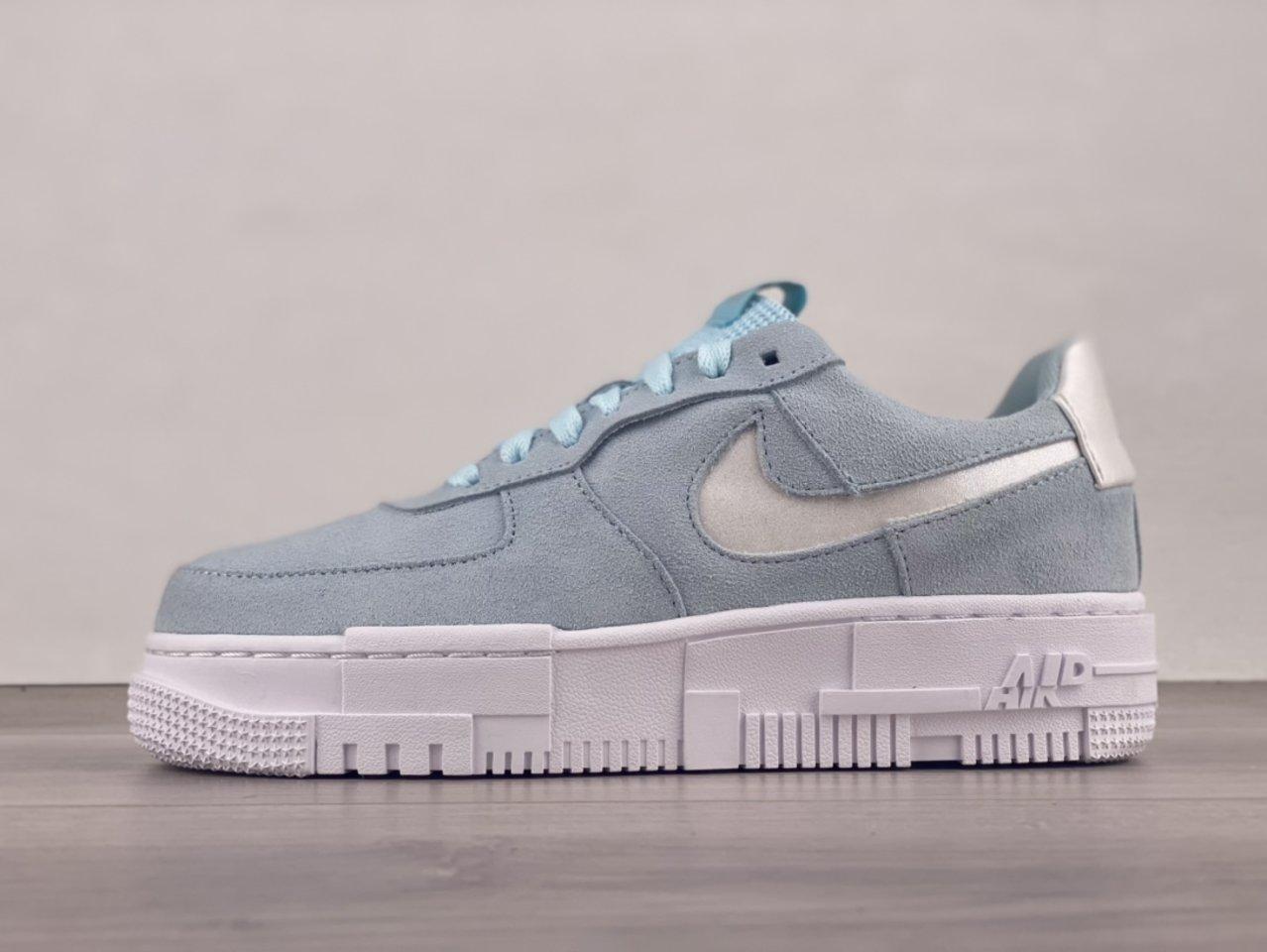 Nike Air Force 1 Pixel Glacier Blue Casual Shoes DH3855-400