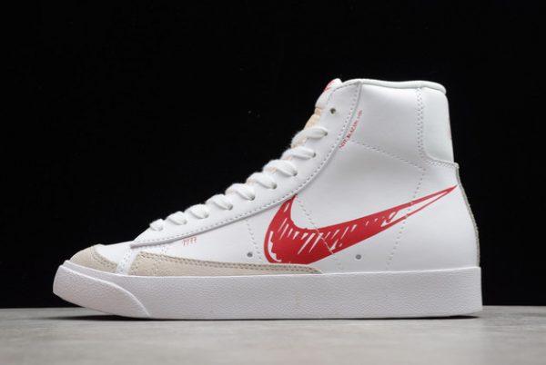 fashion-nike-blazer-mid-77-sketch-white-red-outlet-sale-cw7580-100